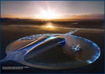 Spaceport America main terminal and runway